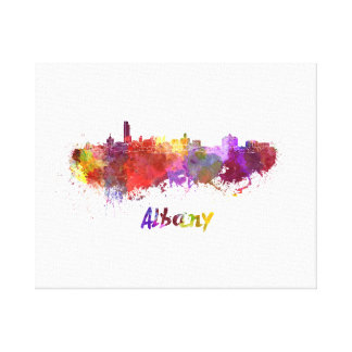 Albany skyline in watercolor canvas print