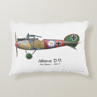 Albatros D.V. ww1 German Fighter Plane Bäumer Accent Pillow