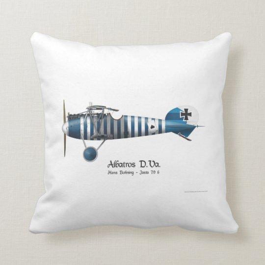 Albatros D.Va WW1 German Fighterplane Hans Bohning Throw Pillow