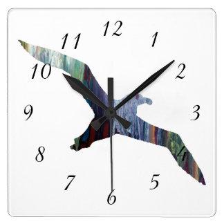 Albatross Animal silhouette Square Wall Clock