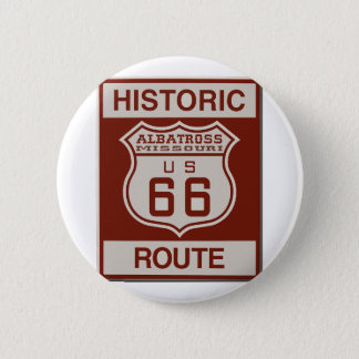 Albatross Route Sixty Six 2 Inch Round Button