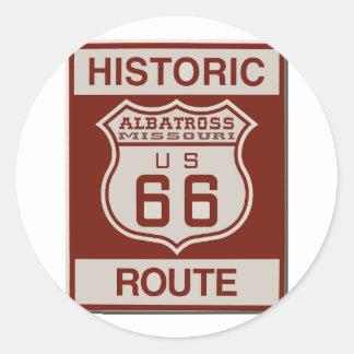 Albatross Route Sixty Six Classic Round Sticker