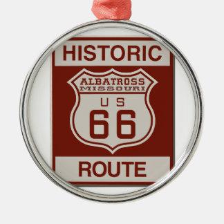 Albatross Route Sixty Six Metal Ornament