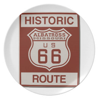 Albatross Route Sixty Six Party Plates