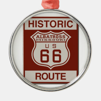 Albatross Route Sixty Six Silver-Colored Round Ornament