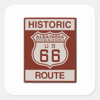 Albatross Route Sixty Six Square Sticker