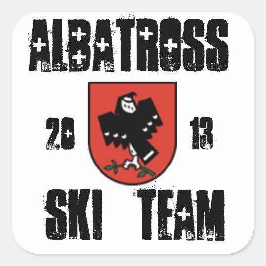 albatross ski team square sticker