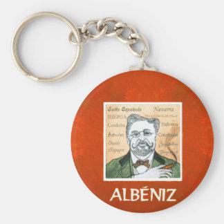 Albeniz keyring basic round button keychain