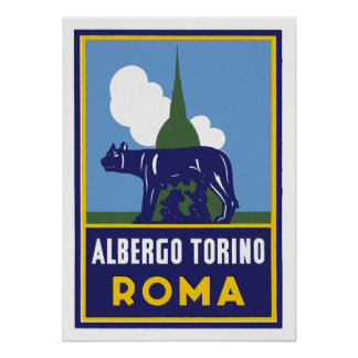 Albergo Torino Roma Poster