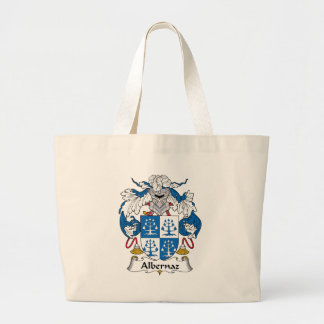 Albernaz Family Crest Large Tote Bag