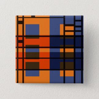 Albers & Mondrian 2 Inch Square Button