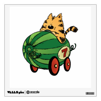 Albert and his watermelon ride wall decal