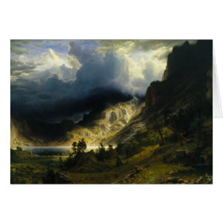 Albert Bierstadt - A Storm in the Rocky Mountains Card