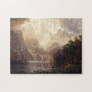 albert bierstadt - among the sierra nevada calif jigsaw puzzle