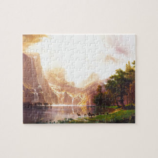 Albert Bierstadt Among the Sierra Nevada Jigsaw Puzzle