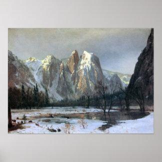 Albert Bierstadt-Cathedral Rocks, Yosemite Poster