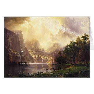 Albert Bierstadt dans la carte de voeux de montagn