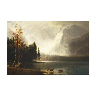 Albert Bierstadt Estes Park Colorado Whyte's Lake Canvas Print