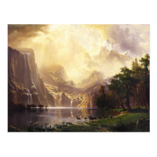 Albert Bierstadt In The Mountains Greeting Card