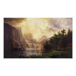 Albert Bierstadt In The Mountains Poster