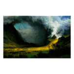 Albert Bierstadt Storm in The Mountains Poster