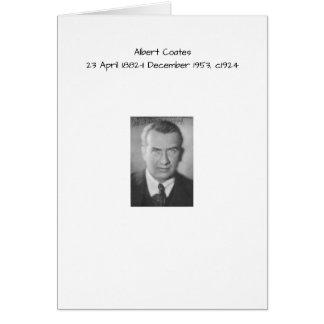 Albert Coates c1924 Card