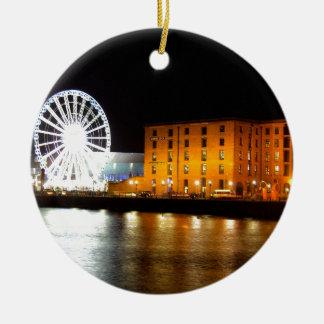 Albert dock Complex, Liverpool UK Round Ceramic Ornament