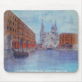 Albert Dock Mouse Mat by Colin Carr-Nall Mouse Pad