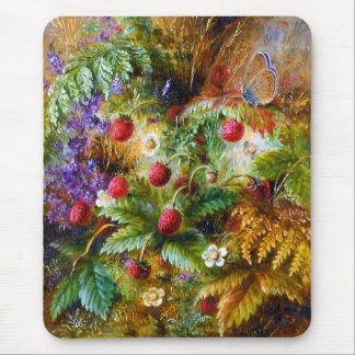 Albert Dürer Lucas: Wild Strawberries & Butterfly Mouse Pad