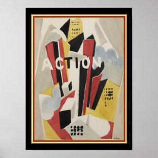 "Albert Gleizes,"" Action"" 1920 Print- 12x16 Poster"