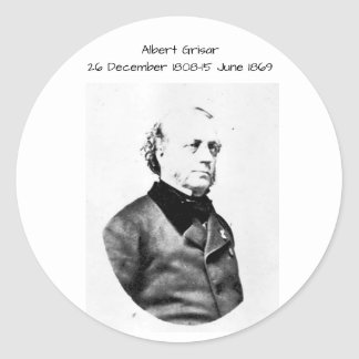 Albert Grisar Classic Round Sticker