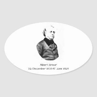 Albert Grisar Oval Sticker
