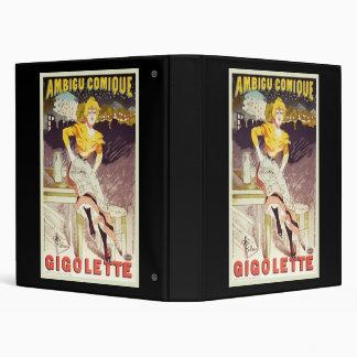 Albert Guillaume Ambigu Comique Gigolette Vinyl Binder