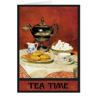 Albert Samuel Anker ~ Tea Time Card