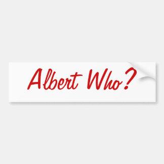Albert Who? St. Louis Bumper Sticker