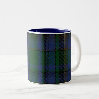 Alberta Blue Green Scottish Clan Plaid Tartan Mug