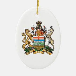 Alberta (Canada) Coat of Arms Ceramic Oval Ornament