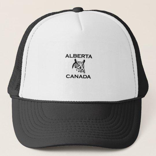 Alberta Canada Great Horned Owl Trucker Hat