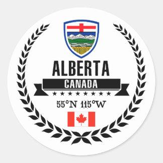 Alberta Classic Round Sticker