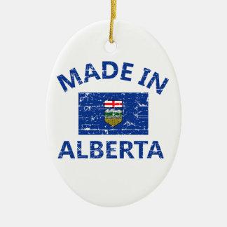 Alberta Coat of arms Ceramic Oval Ornament