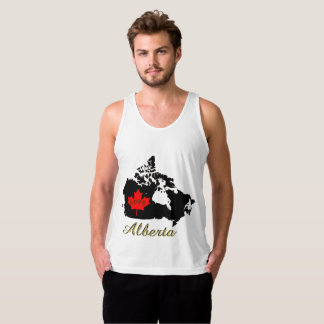 Alberta Customizable custom love Canada Province Tank Top