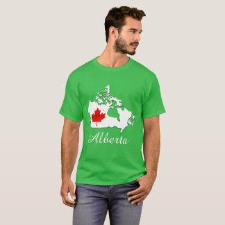 Alberta Customize  Canada Province green lime T-Shirt