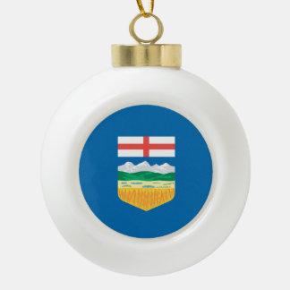 Alberta Flag Ceramic Ball Ornament
