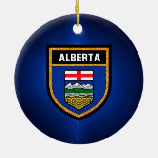 Alberta Flag Round Ceramic Ornament