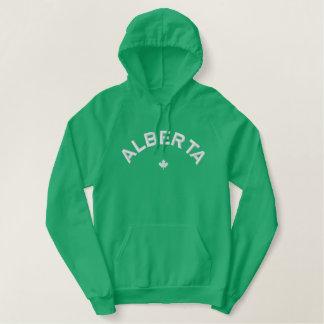 Alberta Hoodie - White Canada Maple Leaf
