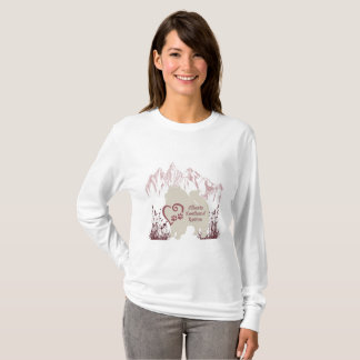 Alberta Keeshond Rescue Logo - Rose T-Shirt