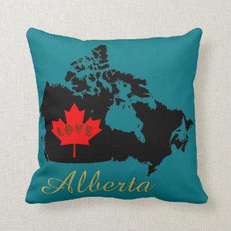 Alberta love Customize  Canada Province pillow
