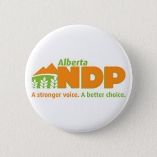 Alberta NDP A Stronger Voice A Better Choice Logo 2 Inch Round Button