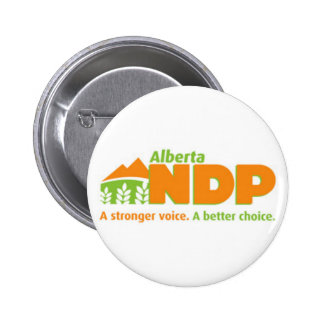 Alberta NDP A Stronger Voice A Better Choice Logo 2 Inch Round Button