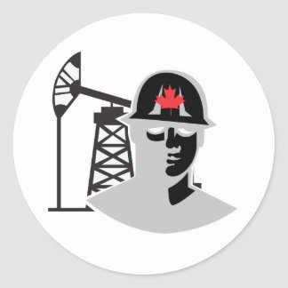 Alberta Oil Classic Round Sticker